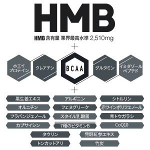 HMB+5大ビルドアップ成分+22種類の厳選サポート成分を高配合