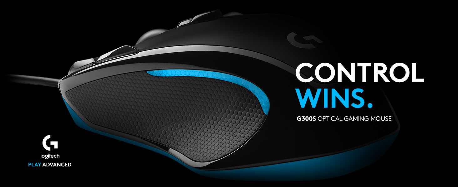 Logitech G300s Wired Gaming Mouse 2 500 Dpi Rgb Lightweight 9 Programmable Controls On Board Memory Compatible With Pc Mac Black Amazon Co Uk Computers Accessories