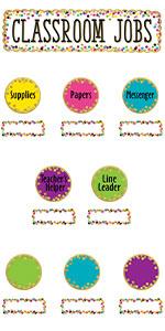 confetti classroom jobs mini bulletin board