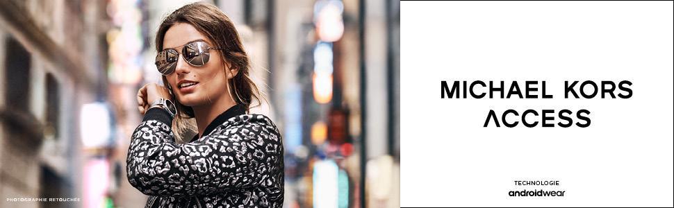 56192945a8 Michael Kors Femme Analogique Digital Montre avec Bracelet en Acier ...