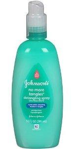 Johnson's No More Tangles detangling spray