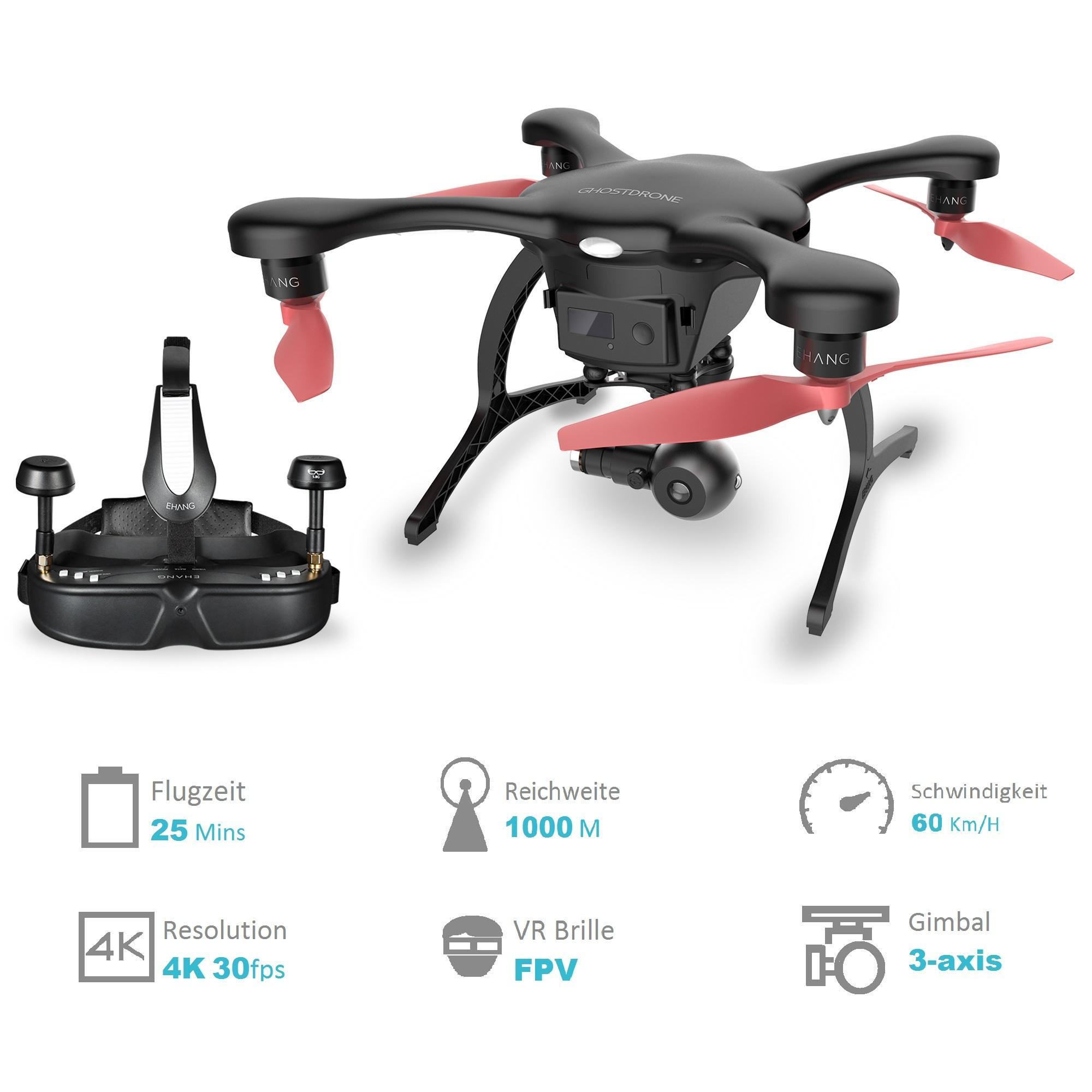 ehang ghost drone drohne 2 0 vr elektronik. Black Bedroom Furniture Sets. Home Design Ideas