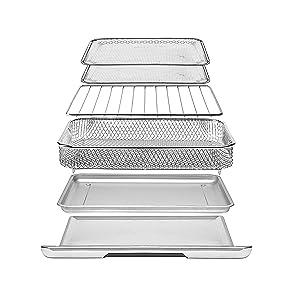dishwasher safe pizzasellereasy clean preset bake countertop rapid basket xl minifries