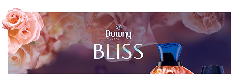 downy infusions bliss scent, downy fabric conditioner, fabric softener, rose, floral scent, washer