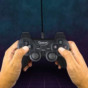 Quantum QHM7468-2V 2.0 PC Game Pad Controller (Black)