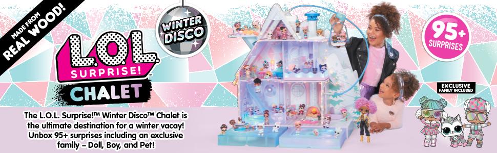 lol surprise; lol winter chalet; lol winter disco chalet; winter disco chalet; lol chalet