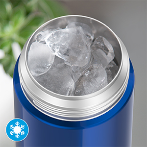 Bottle with ice
