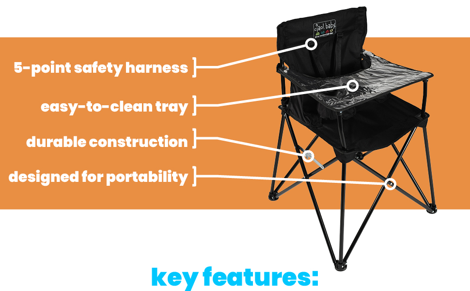 highchair portable chair high for travel camp canvas folding camping outside outdoor foldable