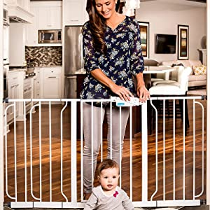 baby gate for wide spaces