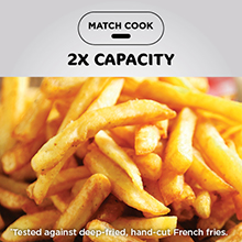 air fryer french fries, oil free french fries, oil less french fries