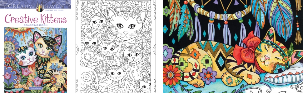 adult coloring kittens