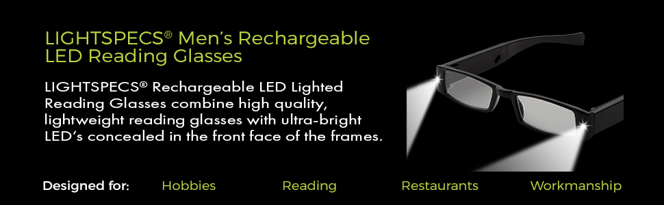 48b644df7640 lighted reading glasses, lighted mens reading glasses, night time readers,  glasses with lights
