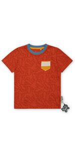 Camiseta de manga corta para bebé, color naranja, para verano, primavera, cómoda guardería, adecuada para el día a día