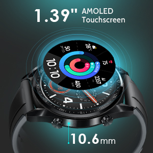 sports watch with 1.39 inch touchscreen