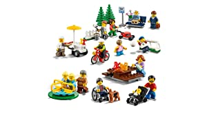 Buildable models include playground equipment and picnic table