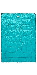 sleeping bag;trekking;lightweight;season;warm;camping;hiking;envelope;double;two;3 season;envelope