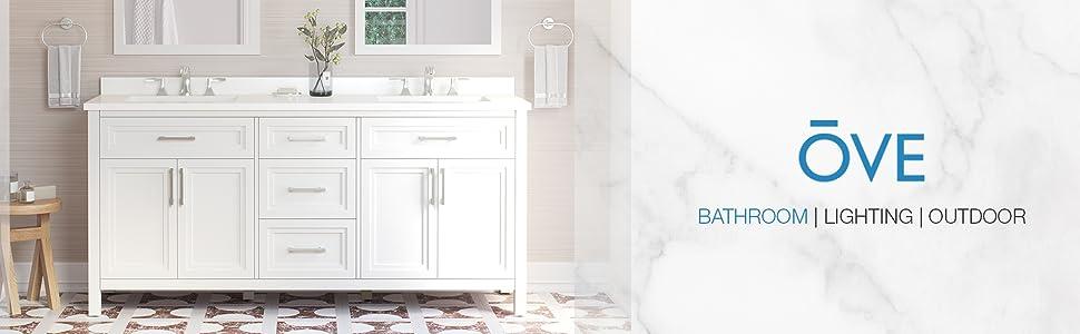 "Ove Decors Laney 72"" Double Sink Bathroom Vanity"