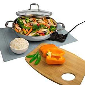 Amazon Com Electric Skillet By Cucina Pro 18 10