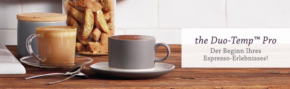 Der Beginn Ihres Espresso-Erlebnisses! the Duo-Temp Pro von Sage Appliances