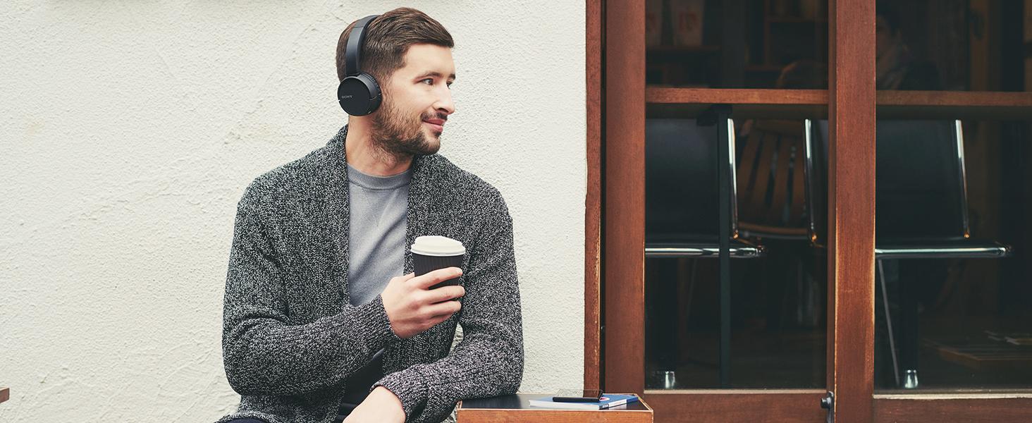 239cbb58fe7 Sony WH-CH500 Wireless Bluetooth NFC On-Ear Headphones: Amazon.co.uk ...