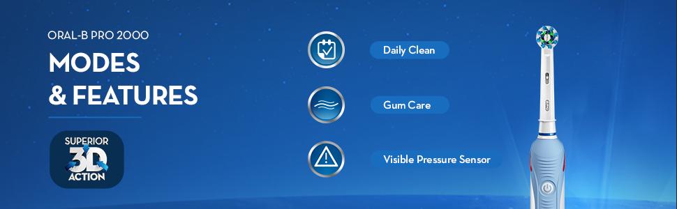 oral-b toothbrush, oral-b pro 2000, oral-b electric toothbrush
