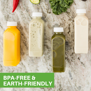 BPA-free juice bottles are free from harmful chemicals and phthalates to safely enjoy drinks.