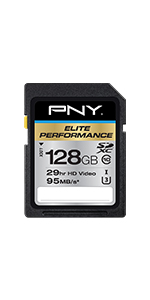 128GB Elite Performance Class 10 U3 SDXC Flash Memory Card