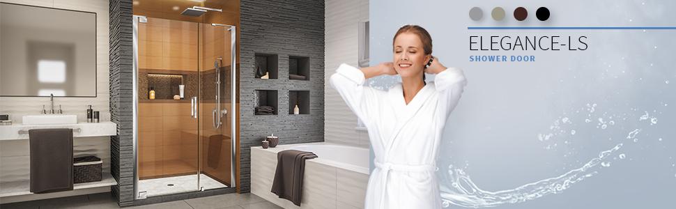 DreamLine, DreamLine Shower, Shower, DreamLine Elegance-LS, Elegance-LS, 57 3/4 in., 58 3/4 in., 59