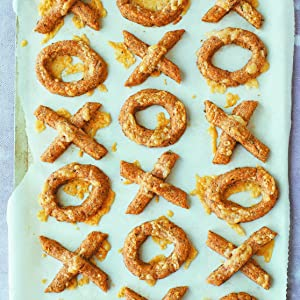 cheesy spelt noughts and crosses