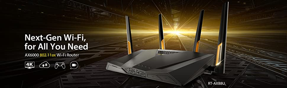 ASUS, RT-AX88U, Wi-Fi, Router, AX6000