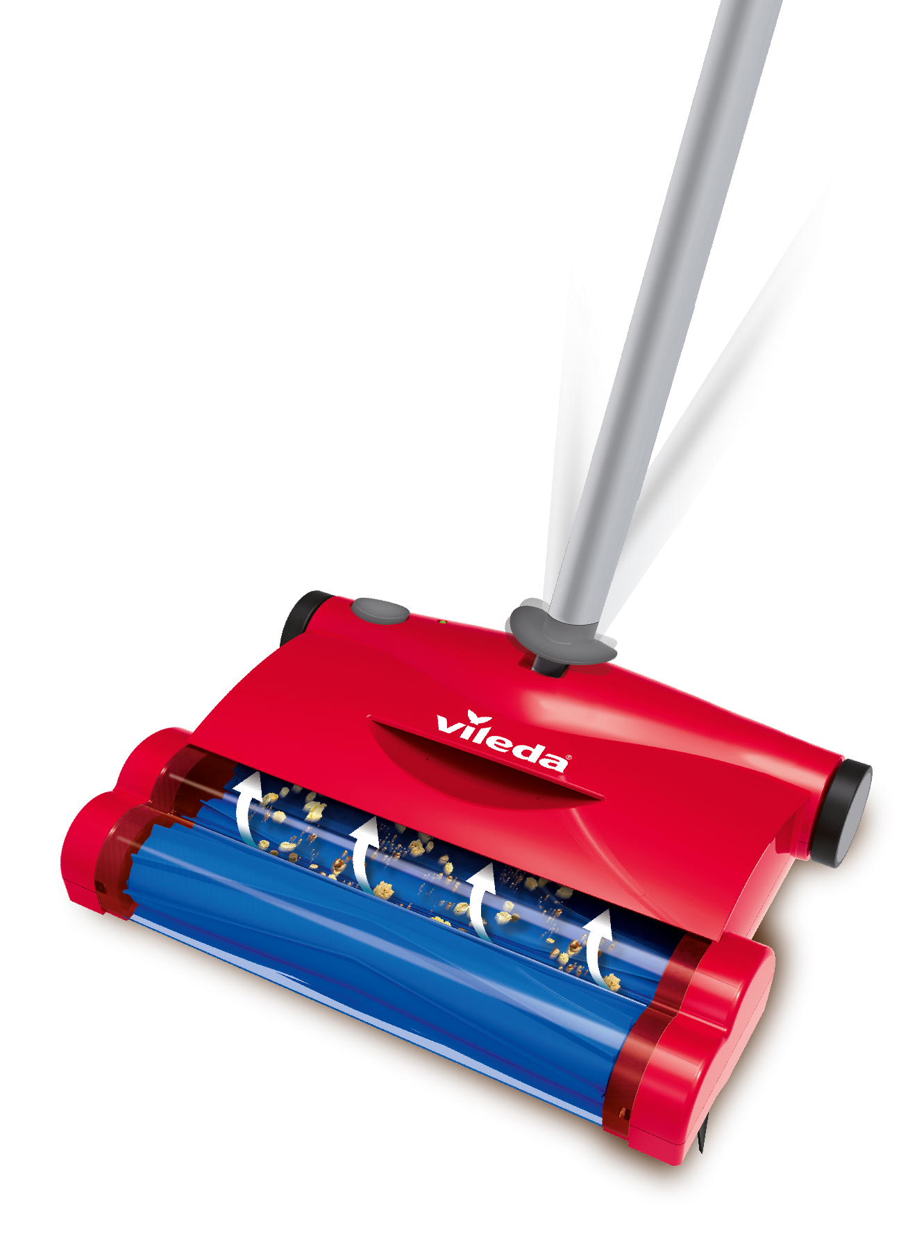 Vileda scopa elettrica quick clean leggera e snodabile for Ricambi scopa elettrica vileda