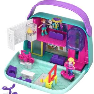 Polly Pocket Pocket World Mini Mall Escape Compact with Surprise Reveals,Micro Dolls & Accessories​​