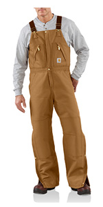 Carhartt Mens Loose Fit Firm Duck Insulated Bib Overall