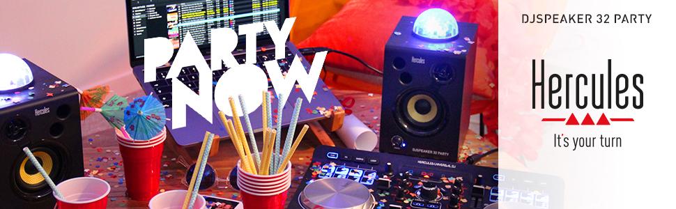 Hercules DJ MONITOR 32 Party Pack