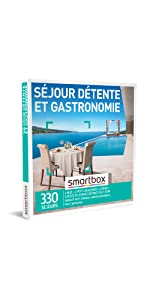Séjour détente et gastronomie coffret box cadeau Smartbox