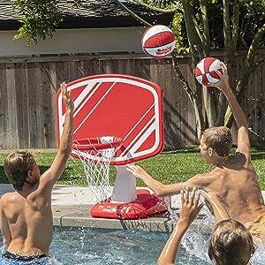 basketball, basketball hoop, pool toys, pool games, outdoor games, summer, basketball hoop, ball