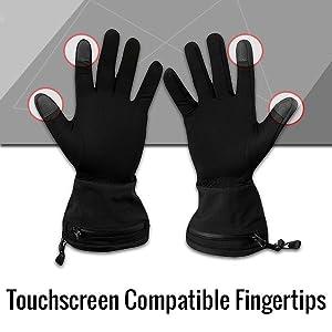 Thermal Liners Inner Waterproof Battery Heated Unisex Gloves Kingavon