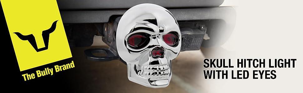 Amazon Com Bully Cr 018 Chrome Skull Emblem Led Light