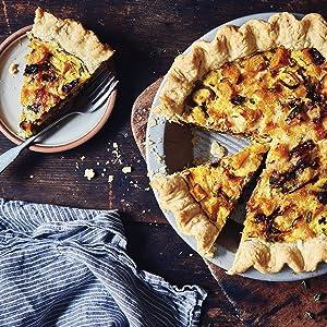 quiche, butternut, roast, baking, crust, dough, king arthur baking, cookbook, savory