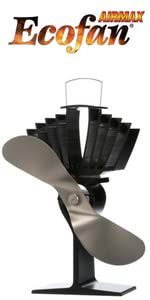 ecofan, eco fan, wood stove fan, heat powered fan, caframo, wood blower, stove fan, AirMax 812