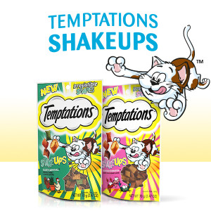 Temptations Shakeups, Flavorful, Chicken, Fish, Shrimp Cat Treats, Poultry, Complete, Balanced