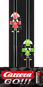 Carrera Battery Operated 1:43 Scale Slot Car Racing Track Set System Compatible with All GO Cars