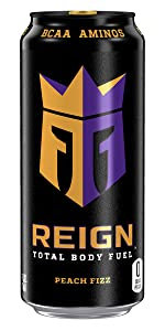CoQ10 BCAA Zero Sugar Zero Calories workout drink muscle recovery Razzle Berry crown knight can