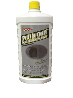 Concrete Stain Remover >> Chomp Pull It Out Oil Stain Remover For Concrete Grease Remover For Garage Floors Driveways