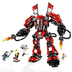 Ninjago Movie, LEGO, building, ninja, creative play, role play, Fire Mech, minifigures