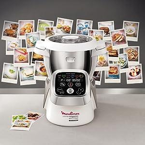 Moulinex HF802AA1 Robot cocina con 6 programas automáticos, 4,5 L de capacidad 6 personas, 12 velocidades y temperatura de 30º a 130º, función de mantenimiento de la calor 45 min: Amazon.es: Hogar