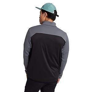 burton mens light fleece zip up versatile hood move active sweat wicking dryride comfort to and from