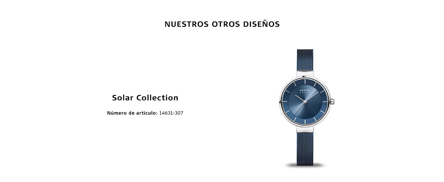 Relojes Relojes Cristal de zafiro Relojes planos Bering Skagen Clásico Cuarzo Acero inoxidable