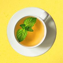 thé vert au de goût menthe, rafraîchissant, odeur, goût, thé vert, tisanes, infusion menthe, intense