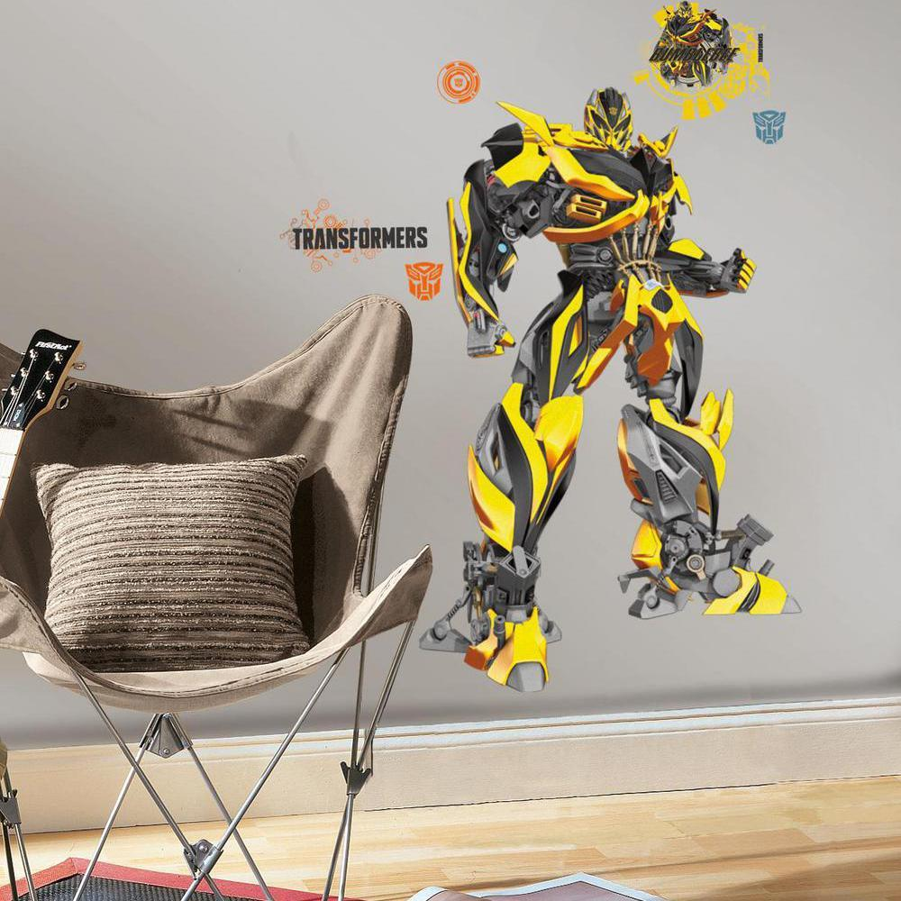 ... transformers peel and stick wall decals peel and stick wall decals ...  sc 1 st  Amazon.com & Amazon.com: RoomMates Transformers: Age of Extinction Optimus Prime ...